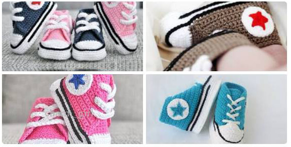 Crocheted Baby Converse Crochet Patterns And Tutorials