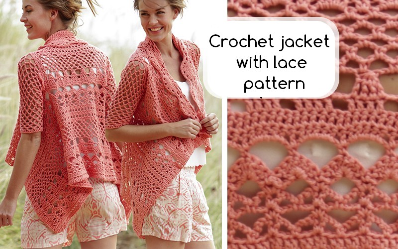 Crochet jacket with lace pattern Crochet Patterns and Tutorials