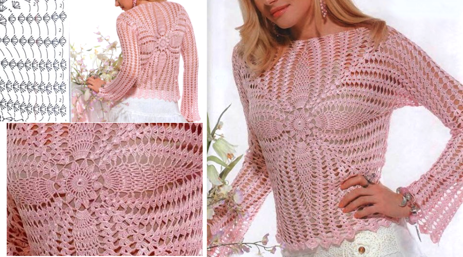 Amazing Crochet Blouse Pattern Crochet Patterns And Tutorials