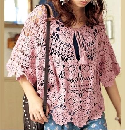 Crochet blouse with graphic and step by step (10)