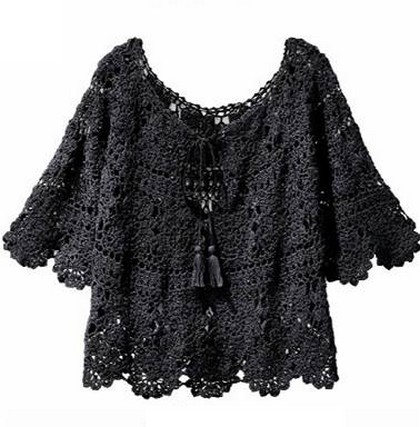 Crochet blouse with graphic and step by step (9)