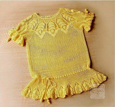 Tutorial how to make a DELICATE CROCHET BLOUSE (9)