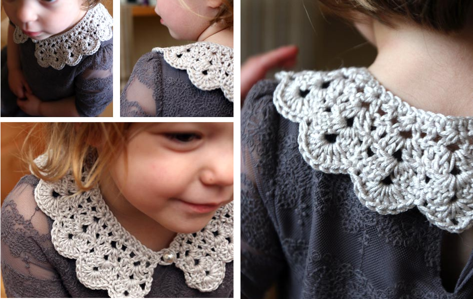 How to make an easy crocheted collar (1)
