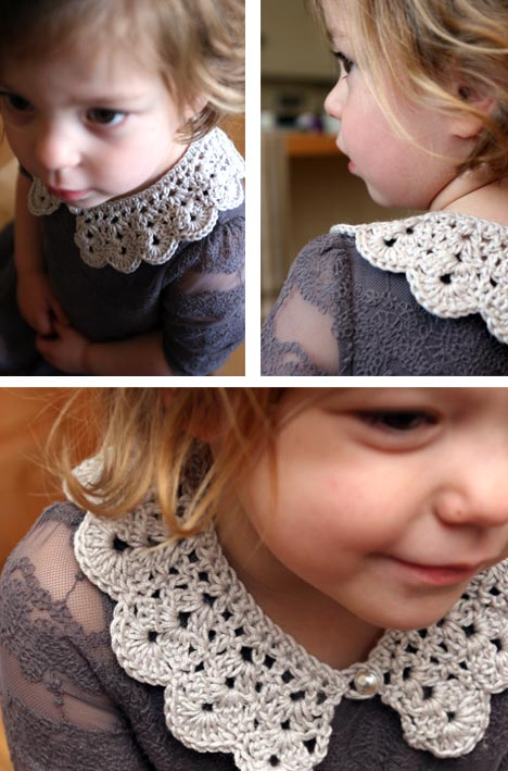 How to make an easy crocheted collar (11)