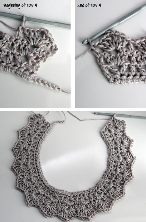How to make an easy crocheted collar (7)